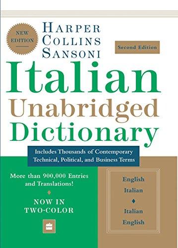 HarperCollins Sansoni Italian Unabridged Dictionary, Second Edition