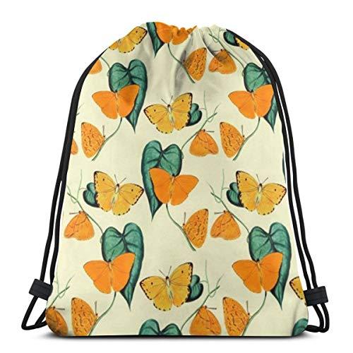 Orange Butterfly Morpho Helena Drawstring Bag Backpack Travel Gymsack Drawstring Backpack Sackpack]()