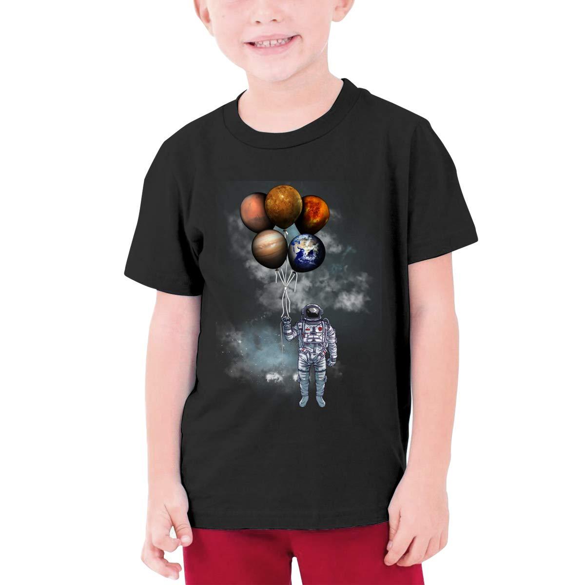 Weibing Boys NASA Starry Night T-Shirts Cotton Short Sleeve Youth Kids Top Tees