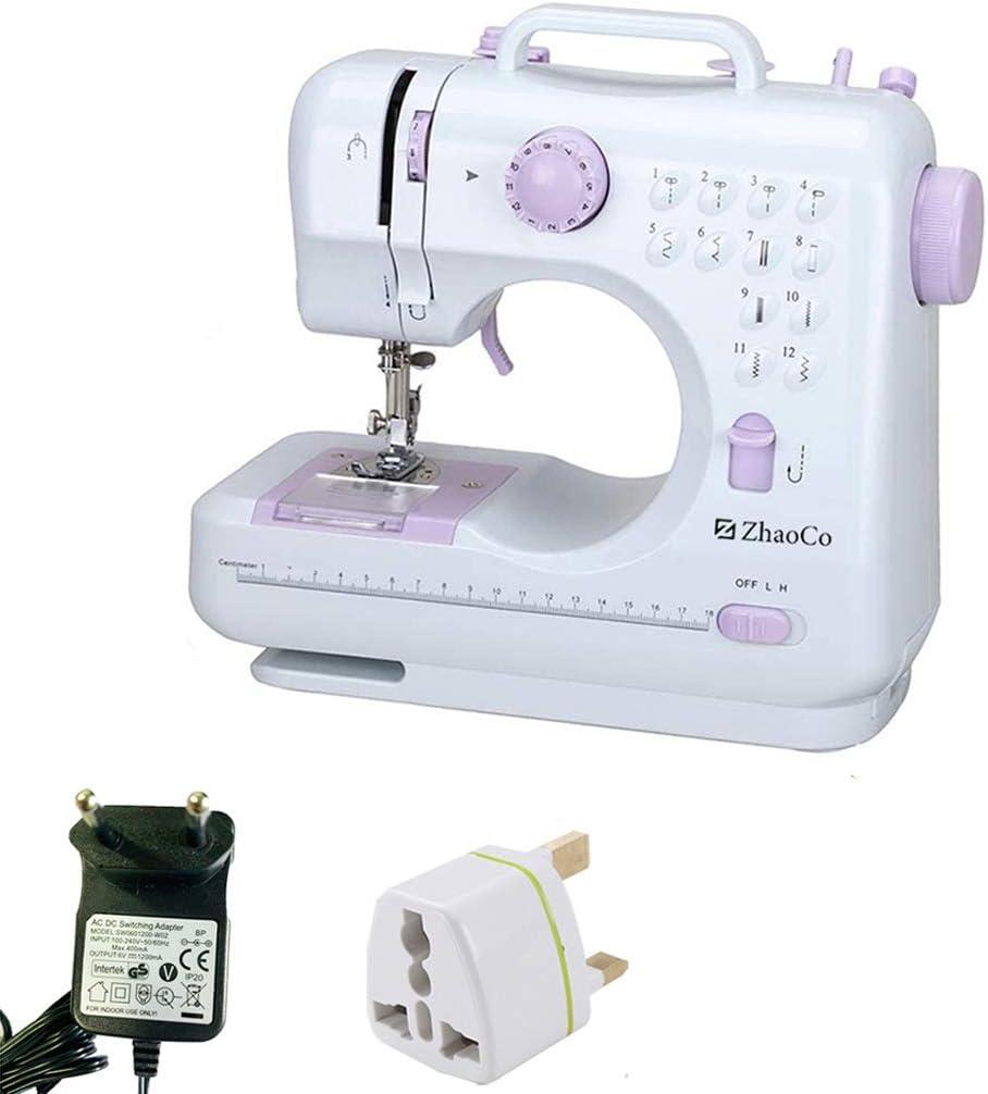 Máquina de Coser Doméstica, Herramienta de Coser Overlock Eléctrica Portátil y Multifuncional para Principiantes Coser en Casa Artesanía Costura DIY