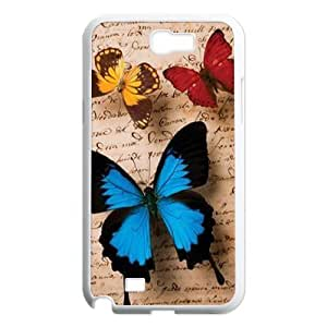 Butterfly DIY Cover Case for Samsung Galaxy Note 2 N7100,personalized phone case ygtg522905