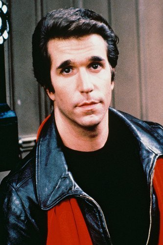 Henry Winkler as Fozie Black Jacket Red Scarf in Happy Days 11x17 Mini Poster