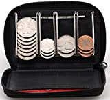 Coin Purse Wallet With Coin Sorter - Quick Change On The Go - Trusty Coin Pouch For Pocket, Purse Or Car (Black)