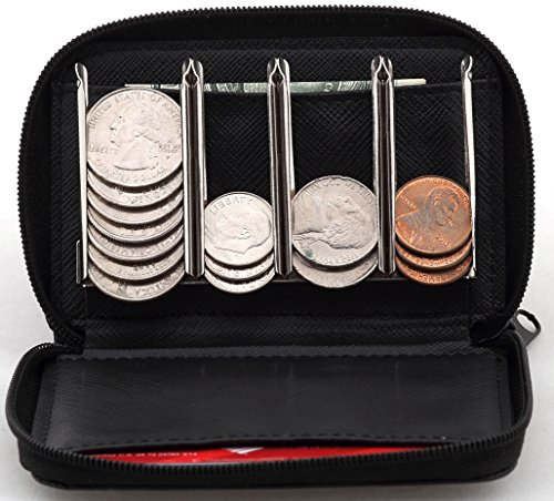 Change Sorter Coin Purse - Trusty Wallet for Quick Change On The Go (Black) (Make Change Purse)