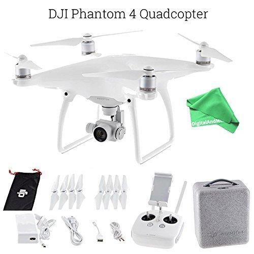 DJI Phantom 4 Quadcopter Drone Aircraft + DigitalAndMore Ultra Gentle Microfiber Lens...