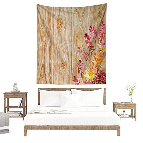 alisoso Tapestries for Sale,Rustic Home Decor,Watercolor Bouquet of Wild Flowers Daisy Floral Beauty in Spring Theme Image,Multi W70 x L93 inch Wall Decoration Tapestry Beach Mat