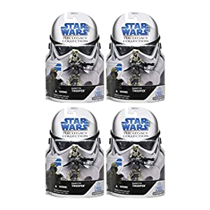 Army Builder Kashyyyk Trooper (4 Figure Pack) Build Your Armies – Star Wars 2008 The Legacy Collection Action Figure Set