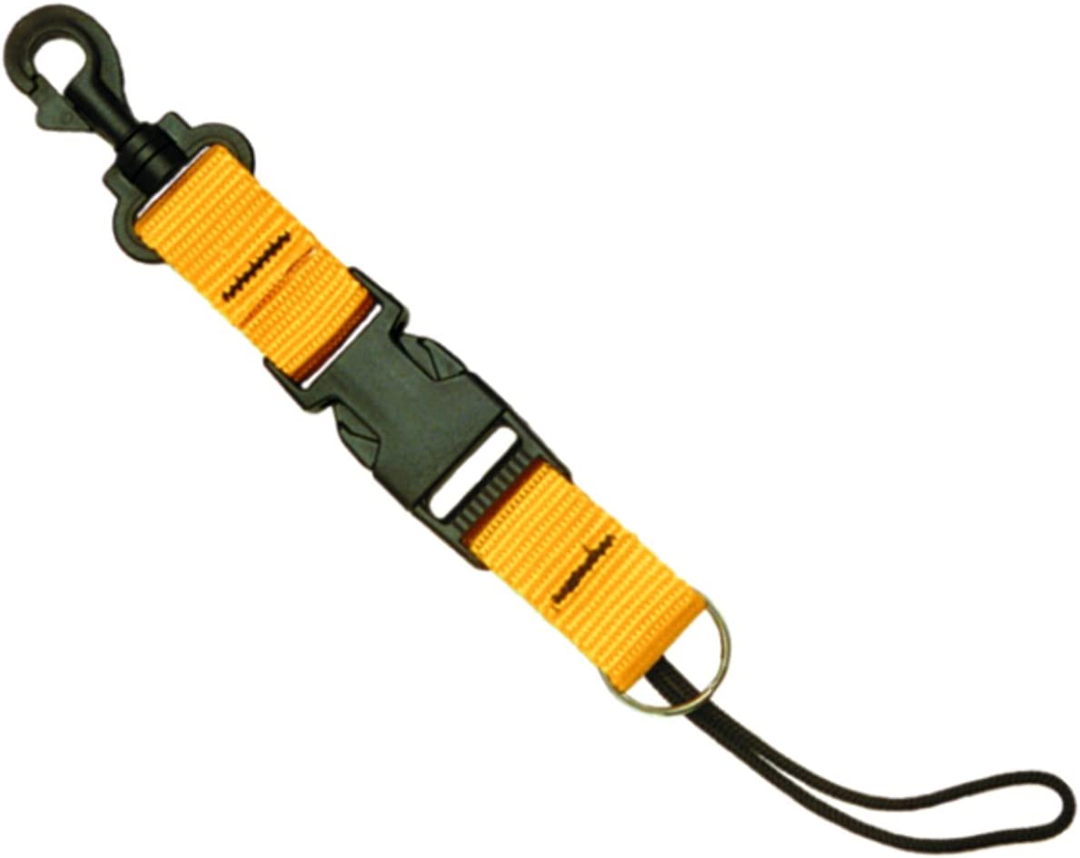 Loosco Diving Lanyard Spring Coiled Lanyard with Quick Release Buckle for Cameras and Dive Lights