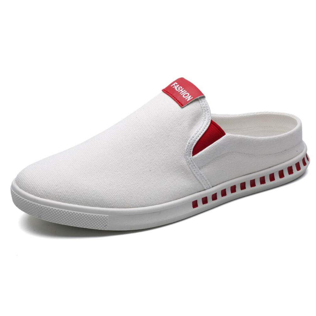 Men's Casual Shoes Linen Shoes Lightweight Loafers/Driving Shoes Linen Laze Slipper Shoes Round Toe Ventilation Shoes YAN (Color : Red, Size : 40) B07GSW2Q2Z Backcountry Equipment 8d0463