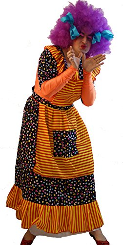 DRAG-Ugly Sister-Panto Dame-Fancy Dress LIQUORICE ALL SORTS DAME & WIG Men's Costume (XXXL)