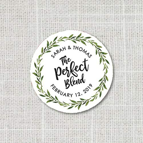 (The Perfect Blend Stickers, Greenery Favor Stickers, Tea of Coffee Favor Stickers, Baby Shower or Wedding Favor Stickers F16:7 )