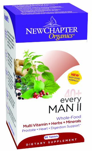 New Chapter Organics 40+ Every Man II Multivitamins Tablets, 96-Count