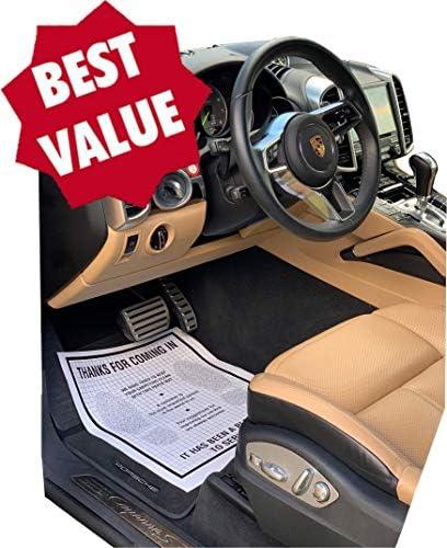 AutoMat Heavy Duty Premium Reinforced Plastic Coated Disposable Paper Automotive Floor Mat (Case of 500)