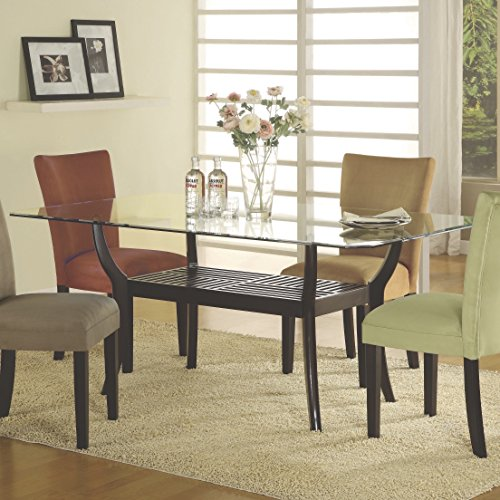 Coaster Home Furnishings 101071 Casual Dining Table Base, Cappuccino (Dining Table Rectangular Pedestal compare prices)