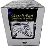 Sketch Pad, 7'' x 11'', 20 Sheets, Case Pack of 36, Ideal for Bulk Buyers