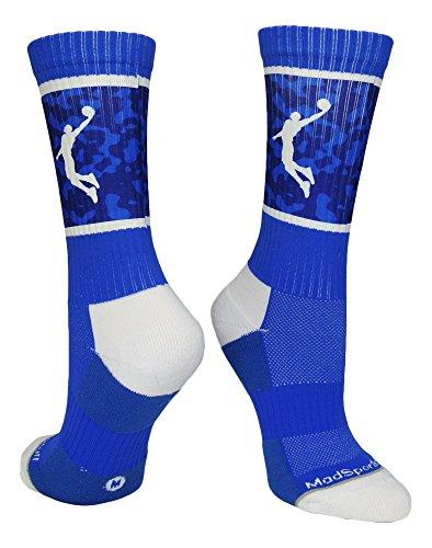 Kobe 7 Christmas Size 11 - Basketball Player Crew Socks (Royal/White, Medium)