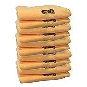 Jet Storm Baby Microfiber Travel Burp Cloth Bib Towels - PAck of 10,Yellow,Medium