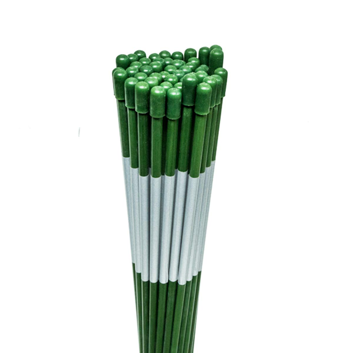 50PK 48'' Long Reflective Driveway Markers Snow Stakes Green 5/16''