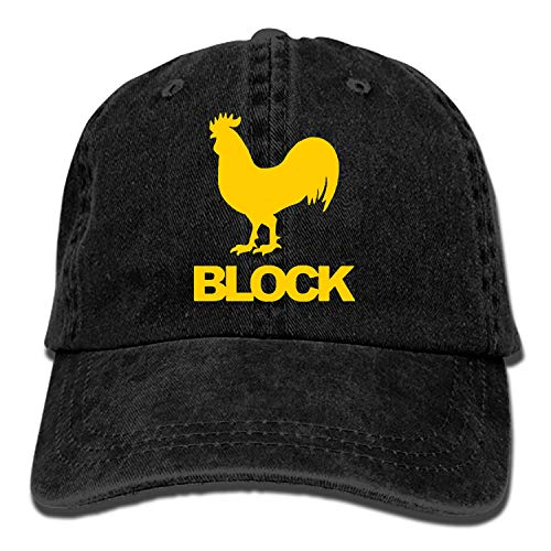 Men & Women Cotton Adjustable Cowboy Hat - Cock Block ()