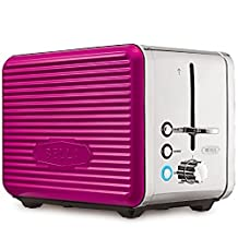 Bella Linea 4-Slice Long Slot Toaster Pink by Bella