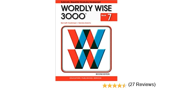 Amazon.com: Wordly Wise 3000 Book 7 (9780838828250): Kenneth ...