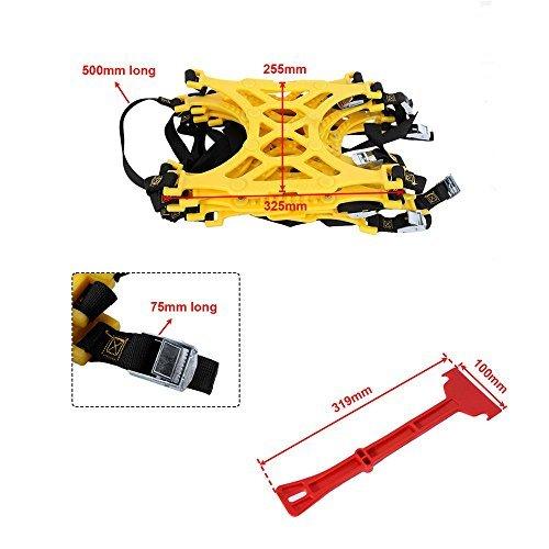 AUXMART Snow Tire Chains Anti-Slip Car Snow Chains Adjustable Tire Snow Chains for Car/SUV/Truck (pack of 6