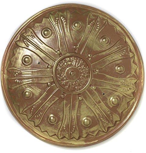 Kids Spartan Warrior Costumes (Forum Novelties Roman Warrior Knight Spartan Costume Gold Sword Shield)