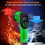 QINWEI Infrared Thermometer, Industrial Infrared Thermometer - Handheld Temperature Probe - Thermometer - Thermometer