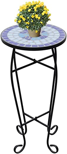 Festnight Outdoor Indoor Garden Side Accent Table Plant Stand Table