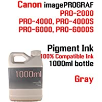 Gray Pigment Ink 1000ml 100% compatible bottle ink Canon...