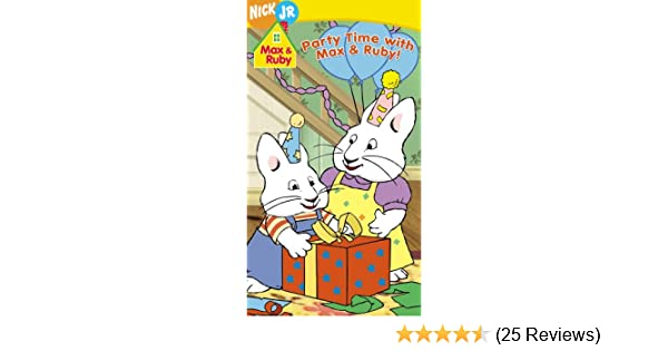 Amazoncom Max Ruby Party Time With Max Ruby Vhs Jamie