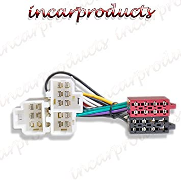 51ZGDmCxHDL._SY355_ toyota iso car stereo radio wiring harness loom adaptor lead iso wire harness at bayanpartner.co