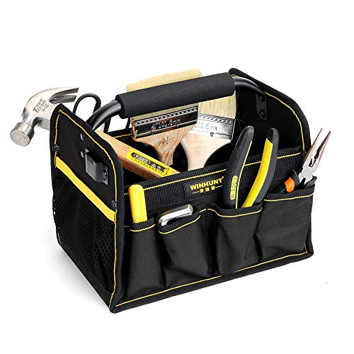 WCHAOEN 27 Pockets Heavy Duty Electrician Hand Tool Organizer Carry Bag Tote Tool Bag Accessories Tool