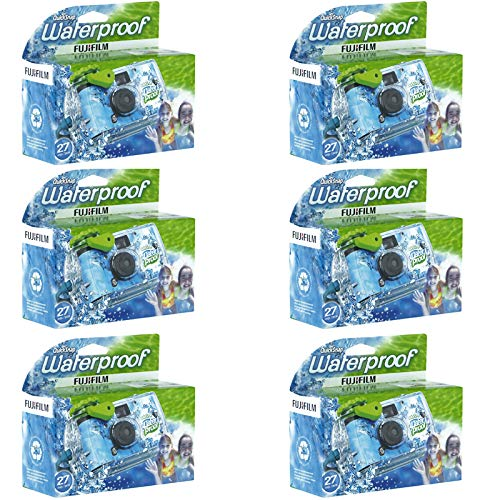 6 Pack – Fuji QuickSnap Waterproof Underwater One Time Use Disposable Cameras