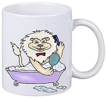 Reifen Markt Kaffeetasse Motiv Nr 11151 Löwe In Der Badewanne
