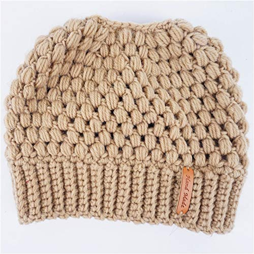 6b6a07626c6 Image Unavailable. Image not available for. Color  Fashion Ponytail Beanie  Winter Hats for Women Crochet Knit ...