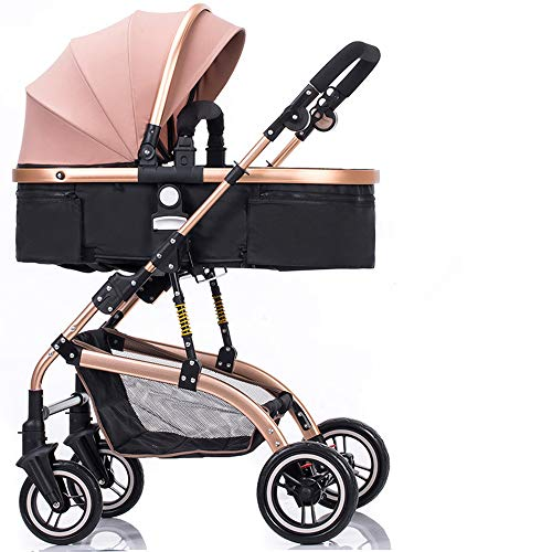 - SCJ Multi-Function Adjustable Stroller, with Mosquito Cover, Cup Holder, Cushion, Four Seasons Universal/Breathable Comfort/Easy to Carry/Anti-Mosquito/can be Taken on The Plane - (0-36 Months),Go