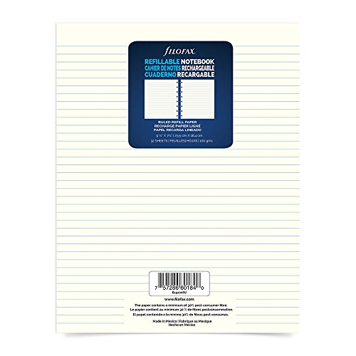 "Filofax Executive Size Refill Sheets, 9.25"" x 7.25"", 64 Ruled Pages (B192008U)"