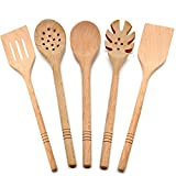 Healthy Kitchen Items(5 pieces ) - Kitchen Utensils Set - Natural Wood - Non-Stick Pan - Durable and Safe