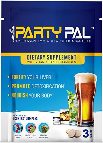 PartyPal® (5) Natural Hangover Relief & Prevention Not a Hangover Cure or Hangover Pills | Detox & Enhance your body's ability to metabolize toxins | Replenish & Revitalize |100% Money Back Guarantee! by Party Pal