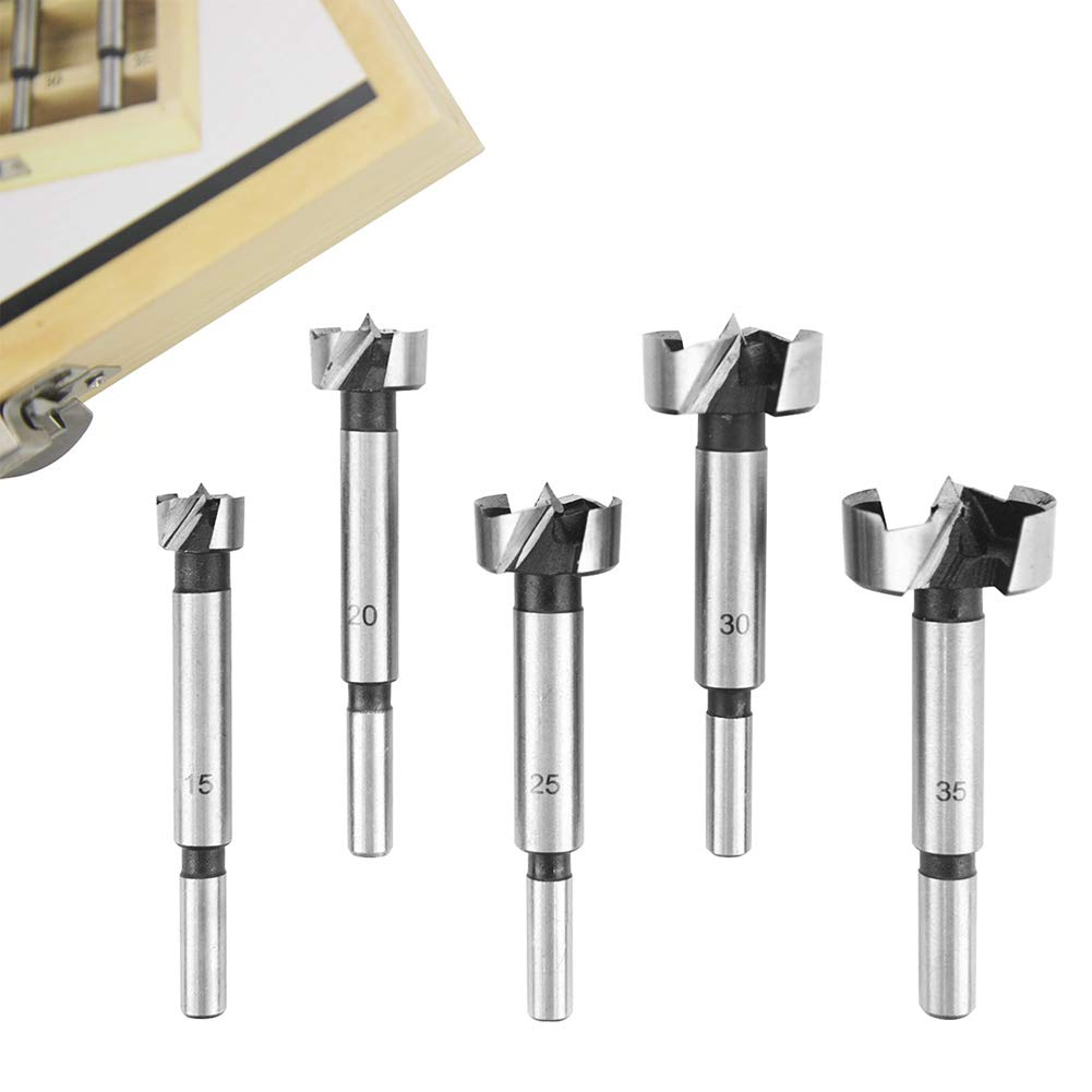 acero al carbono taladro con ala plana juego de brocas sierra de perforaci/ón5 PCS 15-35mm