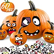 Halloween Stickers Pumpkin Decorating for Kids - Make 60 Funny Face and Classic Pumpkin Expressions Crafts, Ho