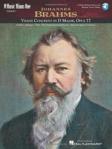 Brahms - Violin Concerto in D Major, Op. 77: Music Minus One Violin (Music Minus One (Numbered)) pdf epub