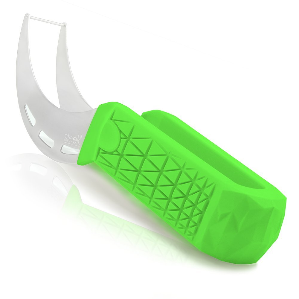 Watermelon Slicer & Tong by Sleeké - New Extended Silicone Cushioned Handle Made to Slice and Serve with Ease - No Mess, Less Stress SYNCHKG112030