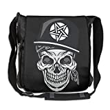 NYYSBU Crossbody Messenger Bag Hip Hop Pirate Skull Shoulder Tote Sling Postman Bags One Size