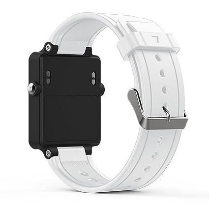 songni® suave silicona Sport correa de repuesto para Garmin vivoactive reloj inteligente de acetato (