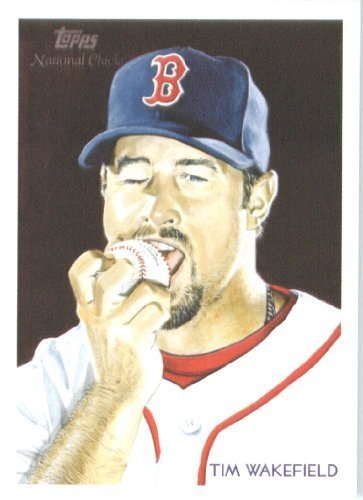 2010 Topps National Chicle Baseball Cards # 22 Tim Wakefield - Boston Red Sox - MLB Trading Card
