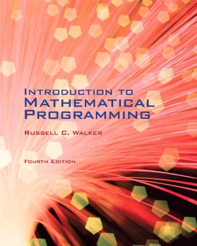 Introduction to Mathematical Programming (4th Edition) by Pearson Learning Solutions