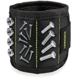 Magnetic Wristband, KUSONKEY Tool Belt with 15 Powerful Magnets for Holding Screws/Nails/Drill Bits,Valentine's Day Tool Gift for Him/Men/Father/Dad/DIY Handyman/Electrician/Husband/Boyfriend