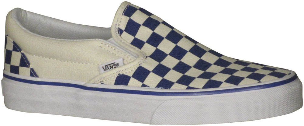 Vans Unisex Classic (Checkerboard) Slip-On Skate Shoe B01MQY8BBG 6.5 M US Women / 5 M US Men|( Primary Checker) True Blue / White